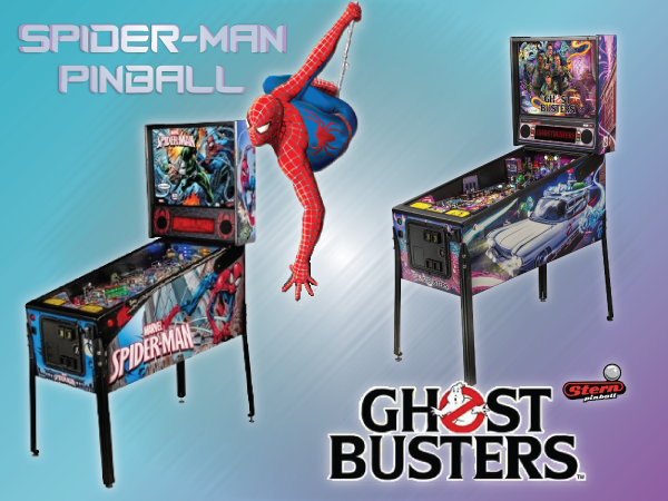 Stern Pinball Spiderman and Ghost Busters
