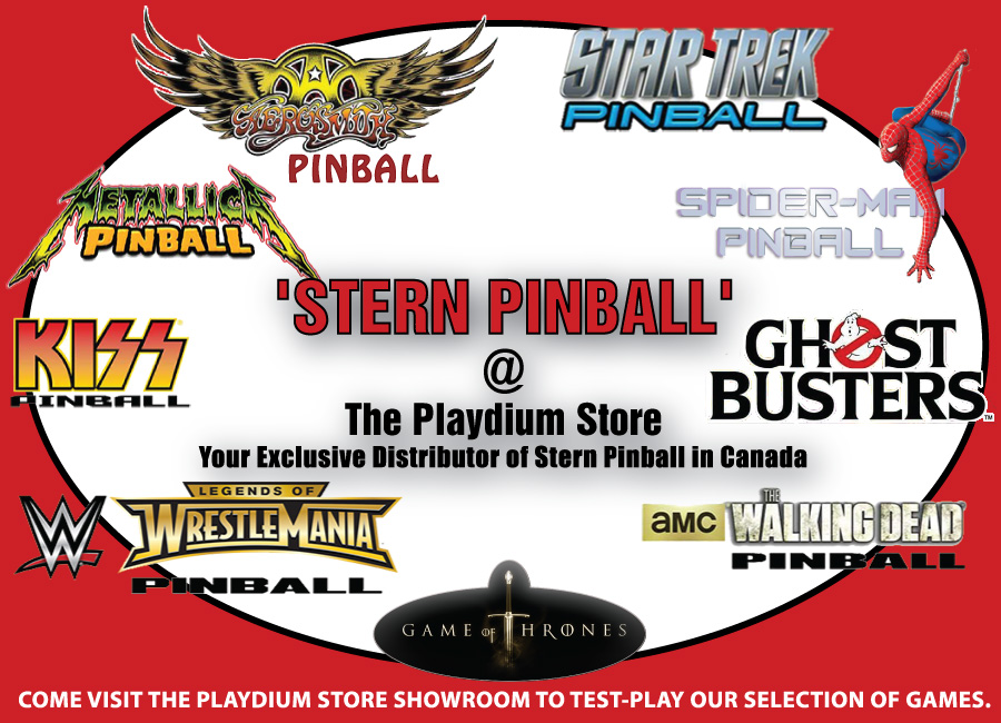 Stern Pinball at The Playdium Store your exclusive Canada Dealer