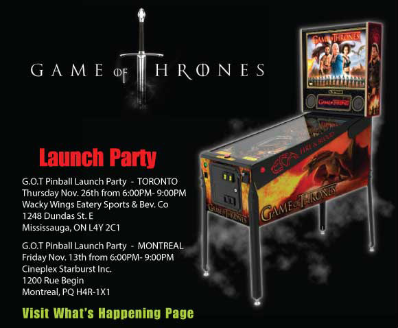 Stern Pinball Presents Game of Thrones